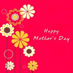 beautiful floral decorated background banner or flyer for happy mothers day celebration.