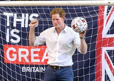 Come on England! Despite England's World Cup woes, Prince Harry managed to put a brave fac...