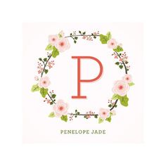 This Floral Monogram Motif Is The Perfect Mix Of Vintage And Whimsy. Flora And Fauna, Modern, Monogram, Pink Children Custom Art From Minted By Independent Artist Lawren Ussery Called Anemone Monogram With Printing On In Apple Blossom NCA. Art Wall Kids, Art For Kids, Nursery Monogram, Monogram Wall, Floral Nursery, Nursery Artwork, Nursery Prints, Pink Kids, Custom Art