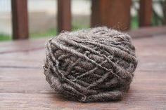 Natural Brown Overspun Handspun Wool Yarn $26 Kimberly Handspun Handwoven SHOP www.nywhitestonefarm.com #handmade #handspun #yarn #wool #knit #crochet #farm #gift #dyi #brown #overspun