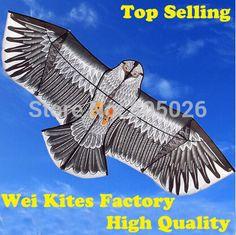 Verzending with100m handvat lijn outdoor fun sport 1.6 m eagle kite hoge kwaliteit vliegende hogere big vliegers wei vliegers fabriek