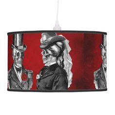 Retro Grunge Skull Custom Lamp