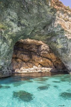 The caves near the breathtaking Blue Lagoon on the island of Comino