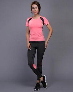 0e7753fd69fb Night Reflective Quick Dry Two Piece Jogging Set. Yoga LeggingsSports  LeggingsWorkout ...