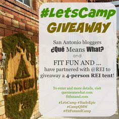 Just entered to win a tent from rei!