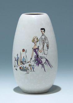"""Jasba Keramik Vase 101/18 1959"""