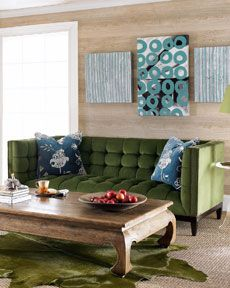 Colors to go with our green couch