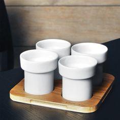 lil espresso cups. perfect.