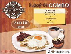 Con huevo o con pollo?  @kaapehteriaNuestro #KáapehCOMBO #Desayuno de hoy... DELICIOSO... les esperamos tengan muy buen día!  SERVICIO A DOMICILIO AL (983) 162 1240.  #Promociones #Káapehtería #TeHaceElDía #ConsumeLocal #Cafetería #Café #Alimentos #Postres #Pasteles #Panes #Cancún #Chetumal #México