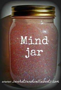 when kids feel overwhelmed or upset they shake the jar, then move to a spot in the room where they are alone and watch the glitter settle.  when it's finished, they can go back to their seat.