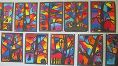 Pastels gras et encre noir, silhouette d'arbre, Halloween. Art Halloween, Bricolage Halloween, Art For Kids, Crafts For Kids, Arts And Crafts, Frise Art, Art Projects, Projects To Try, Autumn Art