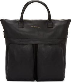 Want Les Essentiels de la Vie Black Leather OHare Shopper Tote. The ultimate man bag. https://www.ssense.com/en-us/men/product/want-les-essentiels-de-la-vie/black-leather-ohare-shopper-tote/110995?utm_term=10569670&utm_content=buffer507c8&utm_medium=social&utm_source=pinterest.com&utm_campaign=buffer