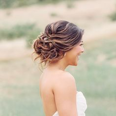 """16 Likes, 1 Comments - Fiona Tsang   Makeup • Hair (@imagibyfiona) on Instagram: """"Unstructured textured updo with fresh flowers for my boho bride . . Photo // @courtney_stockton…"""""""