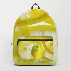 Lemon Fish Backpack by azima Lemon Fish, Modern Art, Contemporary Art, Fishing Backpack, Christmas Decorations, Christmas Ornaments, Pop Surrealism, Merry Christmas, Xmas