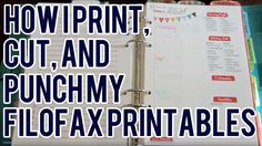 How I Print, Cut, and Punch My Filofax Printables