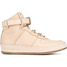 Hender Scheme 'MIP-01' Leather Hi-Top Sneakers ($951) ❤ liked on Polyvore featuring men's fashion, men's shoes, men's sneakers, mens high top sneakers, mens high top shoes, mens leather high top shoes, mens black leather high top sneakers and mens leather shoes
