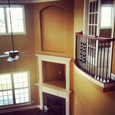 Indoor balcony overlooking the living room Indoor balcony overlooking the living room Indoor Balcony, Balcony Window, Bedroom Balcony, Interior Balcony, Balcony Design, Balcony Ideas, Juliet Balcony, House With Balcony, Apartment Projects