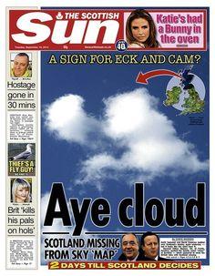 Scottish Sun front page