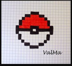 Les Créas de ValMa: Mes Dessins Pixels - Septembre 2017 Cross Stitching, Cross Stitch Embroidery, Cross Stitch Patterns, Pixel Pokemon, Pokemon Diys, Art Drawings Sketches, Cute Drawings, Minecraft Crochet, Modele Pixel Art