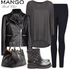 Rocker Chic Style | Fashion Style with MANGO: Rock Chic - Polyvore