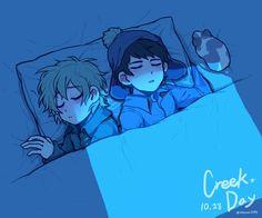 Creek ▪ Craig x Tweek ▪ South park Craig South Park, Tweek South Park, South Park Anime, South Park Fanart, Me Anime, Anime Guys, Style South Park, Tweek And Craig, Kevedd