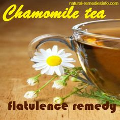 One of the many flatulence natural remedies is chamomile tea.