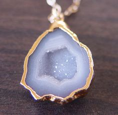 the gold is a little too blingy for me, but I love geodes