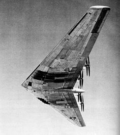 retro-futuristic, military aircraft, bomber, XB-35 Flying Wing Bomber