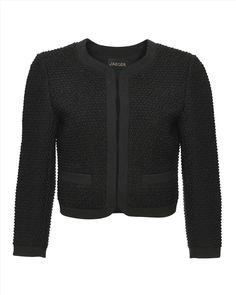 Wool Bouclé Cropped Jacket. This might not look much, but I tried it on & it is gorgeous; really high quality (plus there is a matching boucle skirt for when you're feeling all Coco Chanel)