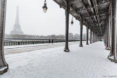 Pont Bir Hakeim sous la neige