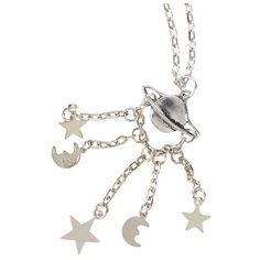 LOVEsick Planet Moons Stars Long Necklace Hot Topic ($5.20) ❤ liked on Polyvore featuring jewelry, necklaces, long jewelry, long necklace, star jewelry, cosmic jewelry and star necklace