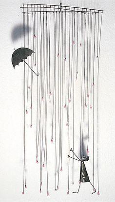 fil de fer pluie