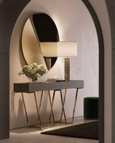 Hallway Designs, Foyer Design, Home Room Design, Home Interior Design, Living Room Designs, Interior Decorating, Design Interiors, Entrance Hall Decor, Entryway Decor