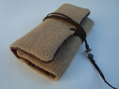 BURLAP-Handmade Fabric Tobacco Pouch, Smoking Pouch Kit, Rolling Tobacco Case, Tobacco Holder, Tobacco Wallet, Fabric Pouch, Vegan Wallet by IndiAnaJoPortugal on Etsy