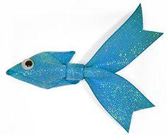 Tutorial on making an adorable ribbon fish!!!