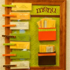 I love this menu planner idea!
