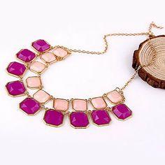Bohemia joyería versión coreana del color caramelo collar cuadrado geométrico – CLP $ 3.085