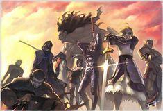 Fate/Stay Night Servants Archer, True Assassin, Caster, Assassin, Berserker, Rider, Lancer, Saber, and Gilgamesh