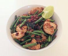 Stir Fry Thai Basil Chicken with Green Beans