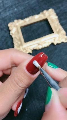 Nail Art Hacks, Nail Art Diy, Easy Nail Art, Diy Nails, Manicure, Nail Art Designs Videos, Nail Art Videos, Simple Nail Art Designs, Acrylic Nail Designs
