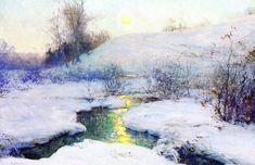 The Athenaeum - Moonrise at Dusk (Walter Launt Palmer - )