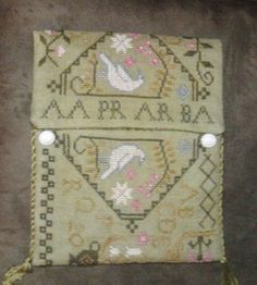 Love this Loose Feathers BBD Quaker Garden made into purse.  Initials.....AA PR AR BA :)