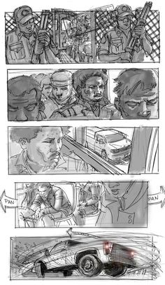 Storyboard for 'The A-Team', by Marc Vena.