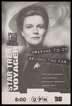Orange is the New Black Kate Mulgrew Star Trek Voyager Captain Janeway 1995 Ad