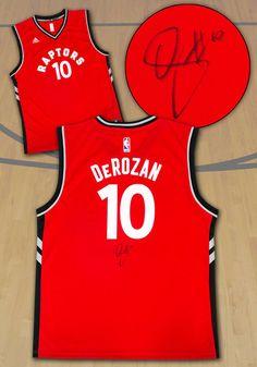 8f1a5a89ec6 Demar DeRozan Toronto Raptors Autographed Red Replica NBA Basketball Jersey  #TorontoRaptors