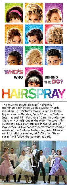 Golden Globe-nominated 'Hairspray' in Cinema Under the Stars on June 25