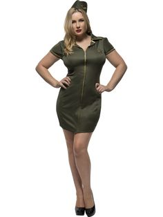 9142efe5363a3 Fever Plus Size Army Costume Get 10% off Your Next Purchase Fever Curves  Army Costume