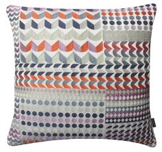 Waltz Large Square Cushion. Tribal Collection. Cotton and Polyester. Margo Selby. Textile Design