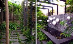 Beautiful Garden Design with Designer Balloon Lights by Eckersley Garden Architetcture