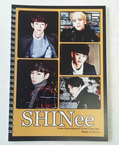 "SHINee Photo Wire Bound Notebook 6""x8.25"" 30 sheet Rule KPOP Star Gift New"